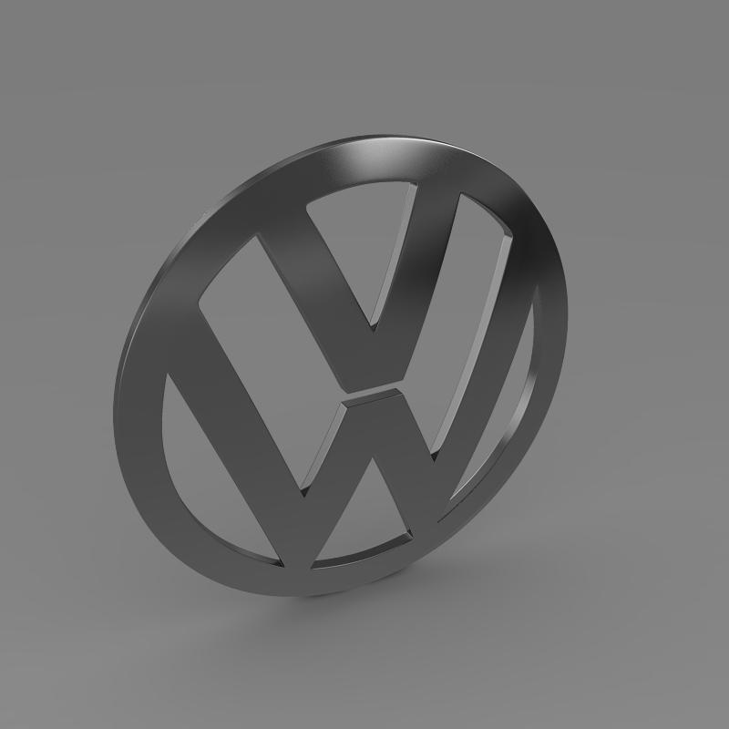 volkswagen logo 3d model 3ds max fbx c4d lwo ma mb hrc xsi obj 117426