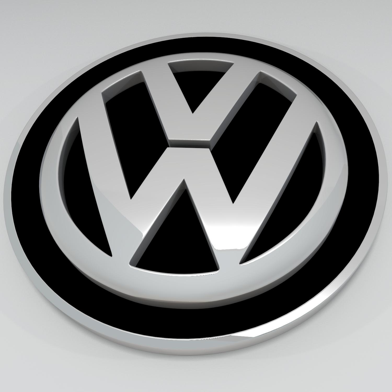 volkswagen logo v1 3d model blend obj 140624