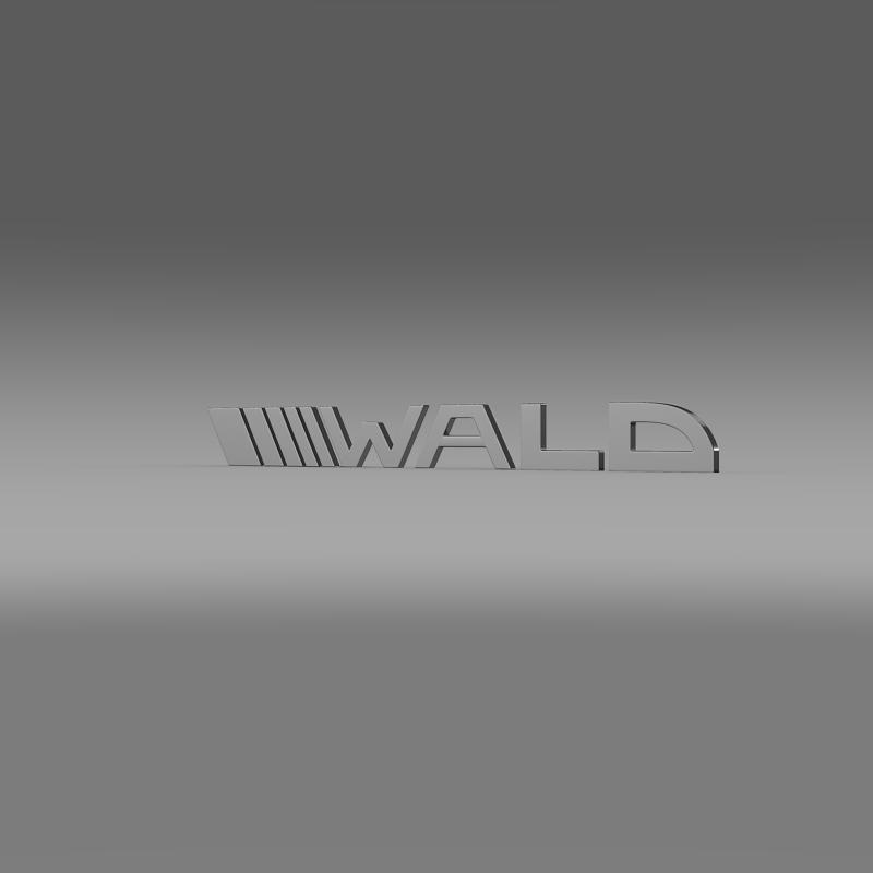 wald logo 3d modelis 3ds max fbx c4d lwo ma mb hrc xsi obj 152195