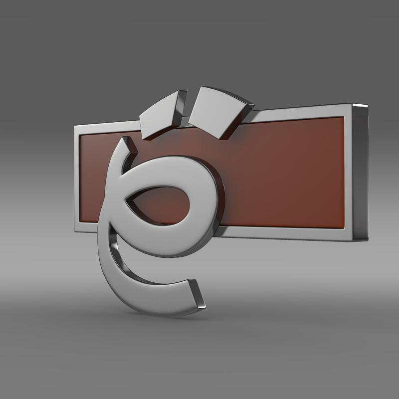 yo-mobile logo model 3d 3ds max fbx c4d