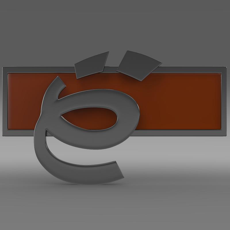 yo-mobile logo 3d model 3ds max fbx c4d lwo ma mb hrc xsi obj 117226