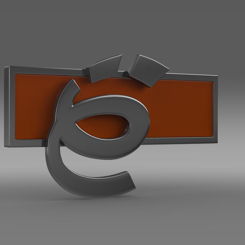 yo-mobile logo 3d model 3ds max fbx c4d lwo ma mb hrc xsi obj 117227