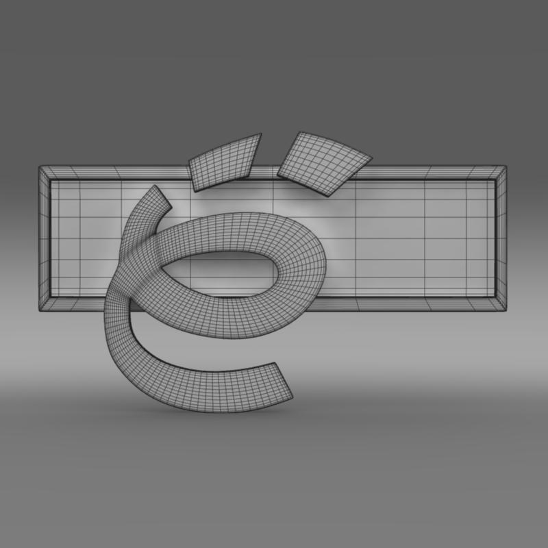 yo-мобайл лого 3d загвар 3ds max fbx c4d lwo ma mb hrc xsi obj 117231