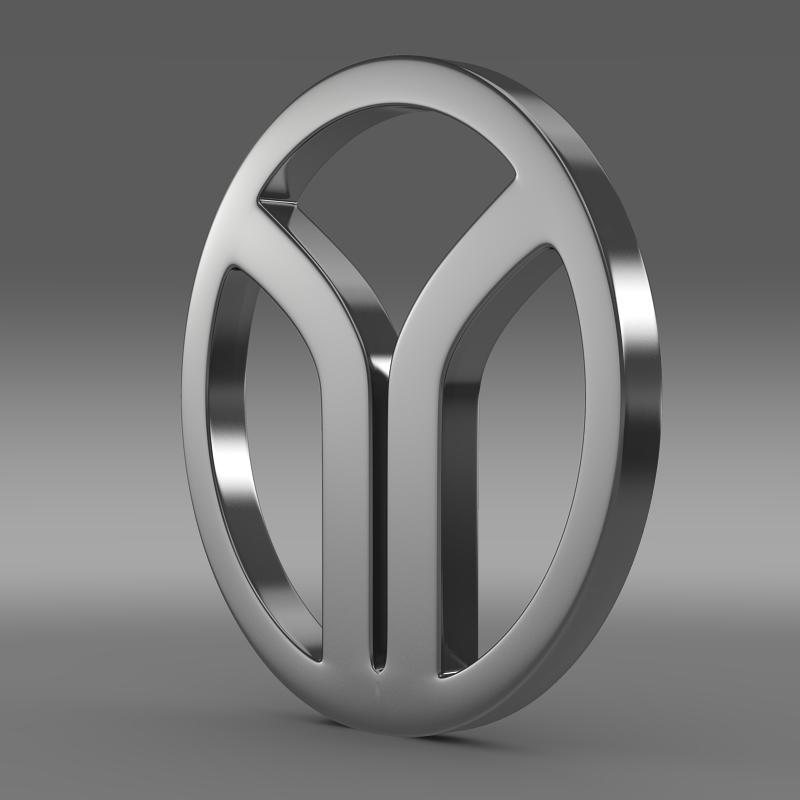 yugo logo 3d model 3ds max fbx c4d lwo ma mb hrc xsi obj 118362