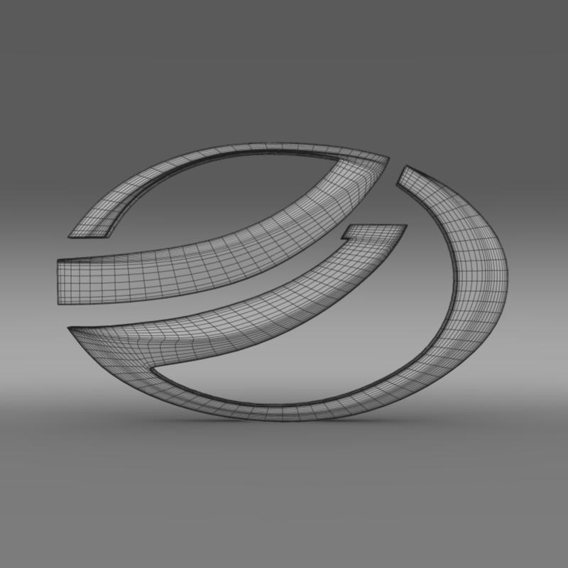 zaz logo 3d modelis 3ds max fbx c4d lwo ma mb hrc xsi obj 117939