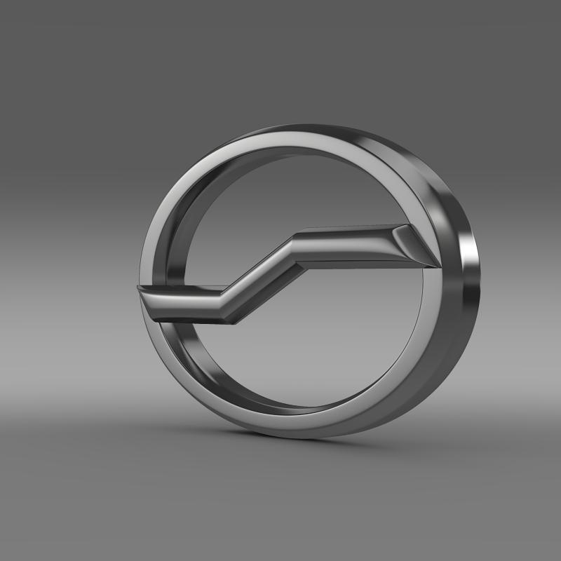 zhauto logo 3d model 3ds max fbx c4d lwo ma mb hrc xsi obj 121819