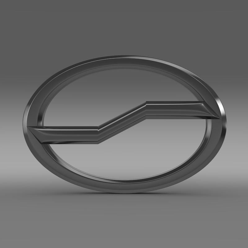 zhauto logo 3d model 3ds max fbx c4d lwo ma mb hrc xsi obj 121820