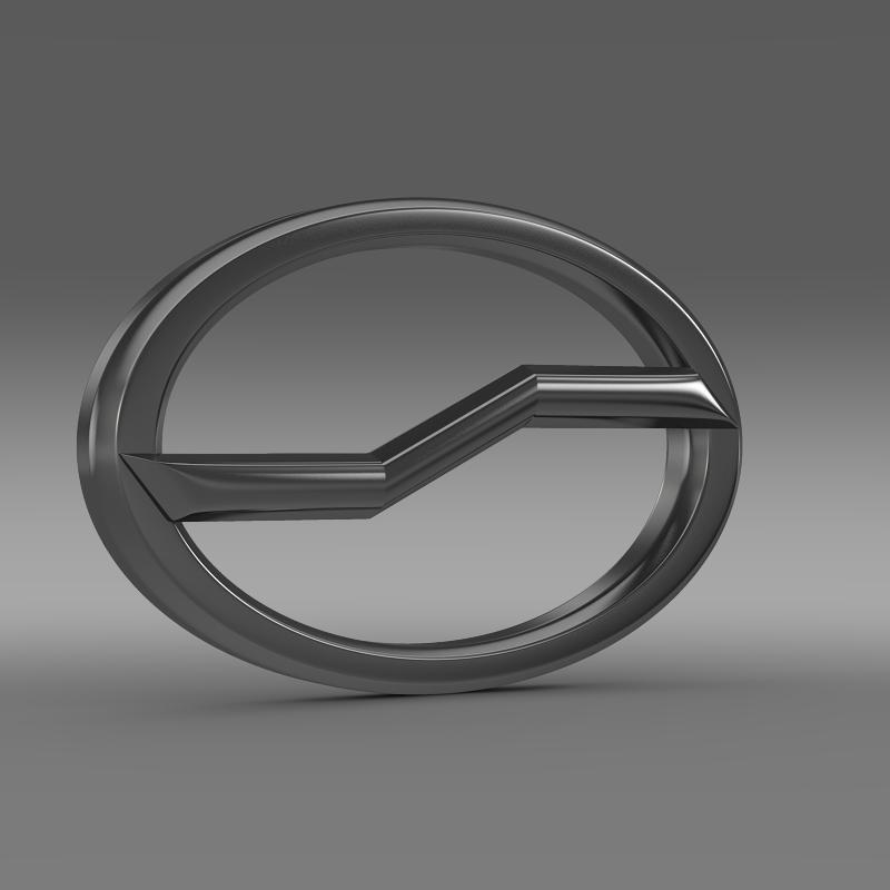 zhauto logo 3d model 3ds max fbx c4d lwo ma mb hrc xsi obj 121821
