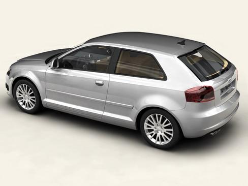 Audi a3 3 door 2009 3d model 3ds max lwo obj 113774