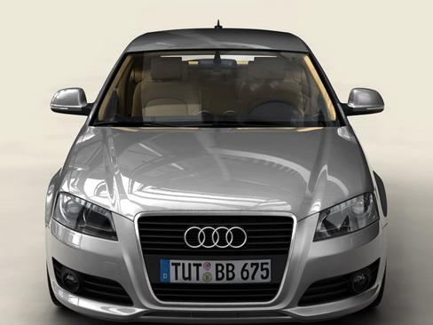 Audi a3 3 door 2009 3d model 3ds max lwo obj 113775