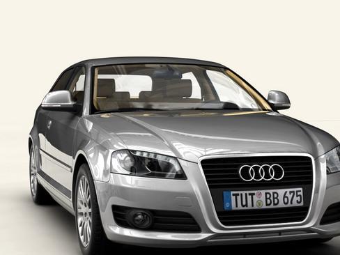 Audi a3 3 door 2009 3d model 3ds max lwo obj 113778