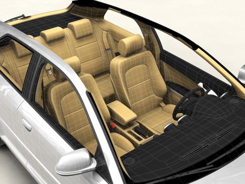 Audi a3 3 door 2009 3d model 3ds max lwo obj 113779