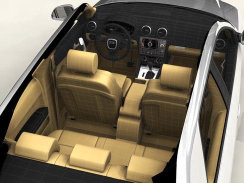 audi a3 3 door 2009 3d model 3ds max lwo obj 113780