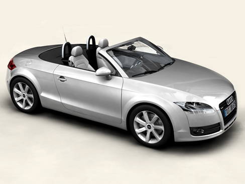 audi tt roadster 2007 3d model 3ds max obj 113783