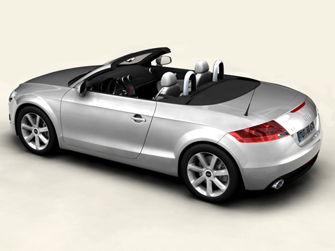 audi tt roadster 2007 3d model 3ds max obj 113784
