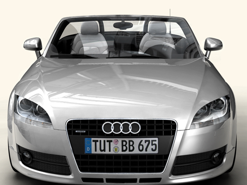 audi tt roadster 2007 3d model 3ds max obj 113785