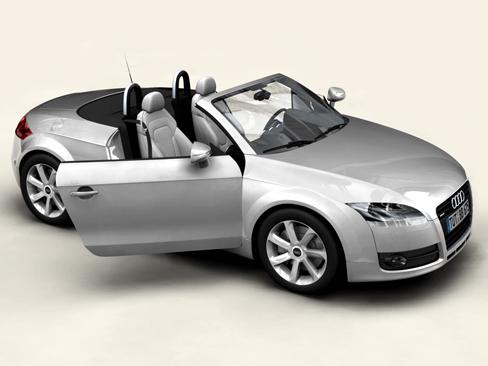 audi tt roadster 2007 3d model 3ds max obj 113786