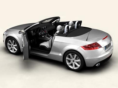 audi tt roadster 2007 3d model 3ds max obj 113787