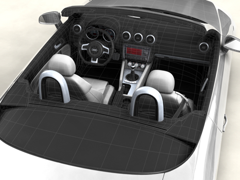 audi tt roadster 2007 3d model 3ds max obj 113789