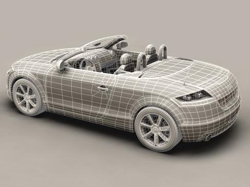 audi tt roadster 2007 3d model 3ds max obj 113791