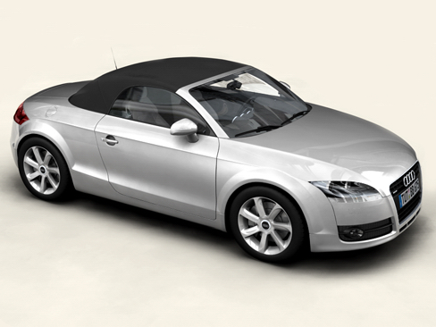 audi tt roadster 2007 3d model 3ds max obj 113792