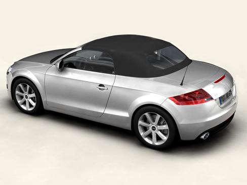 audi tt roadster 2007 3d model 3ds max obj 113793