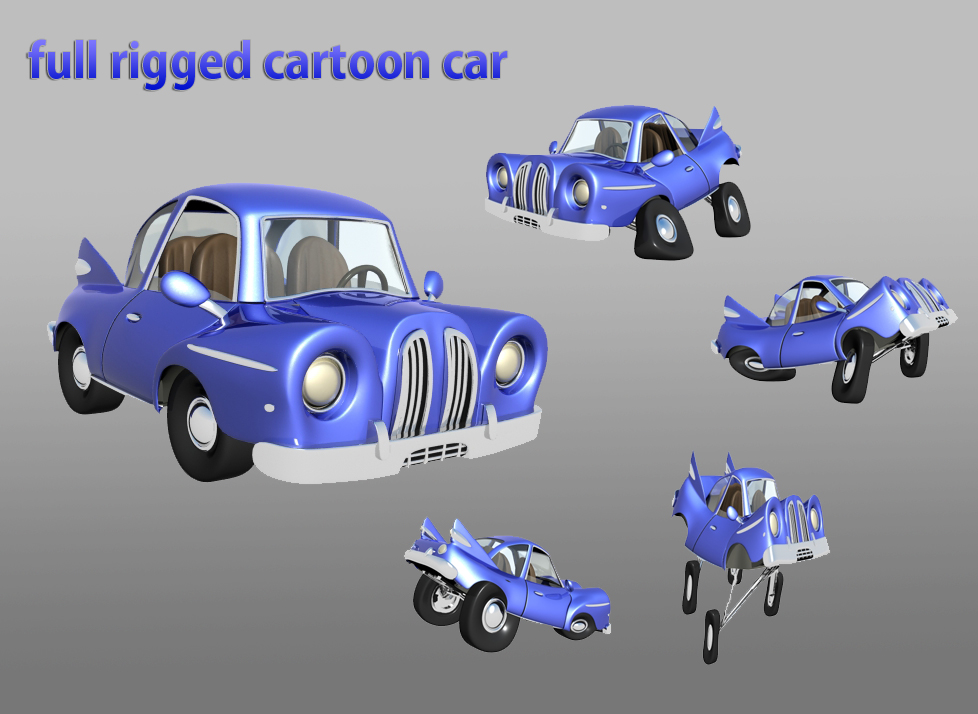 cartoon car 3d model max 114651