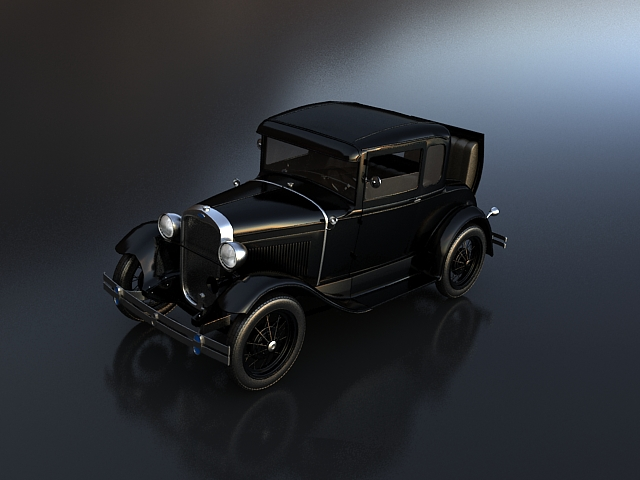ford a coupe 3d model max 115085