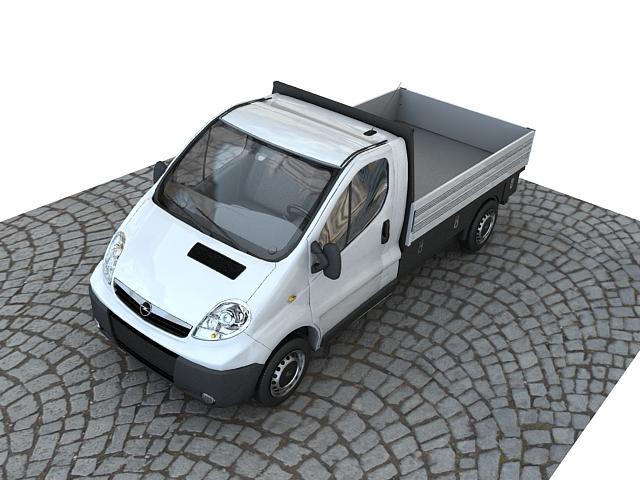 Opel vivaro pickup 3d model max 117640
