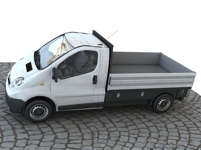 Opel vivaro pickup 3d model max 117641