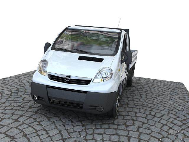 Opel vivaro pickup 3d model max 117642