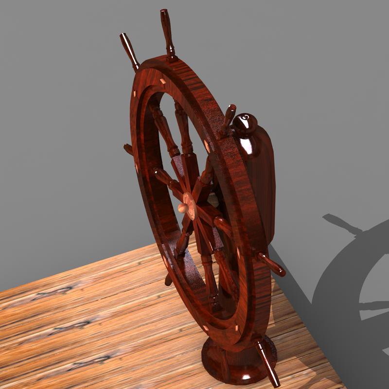 steering old boat 3d model max 118697