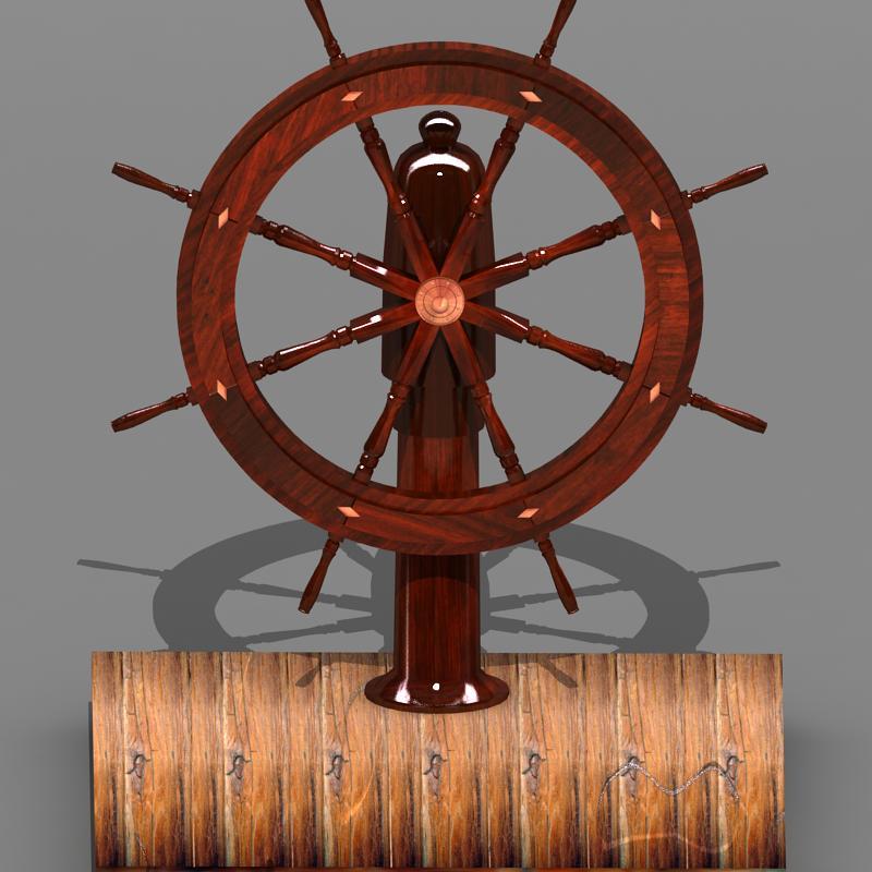 steering old boat 3d model max 118700