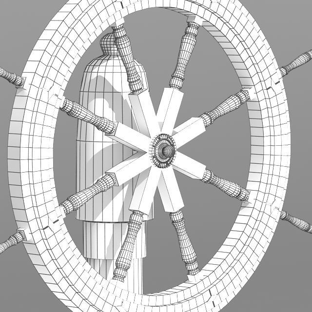 steering old boat 3d model max 118703