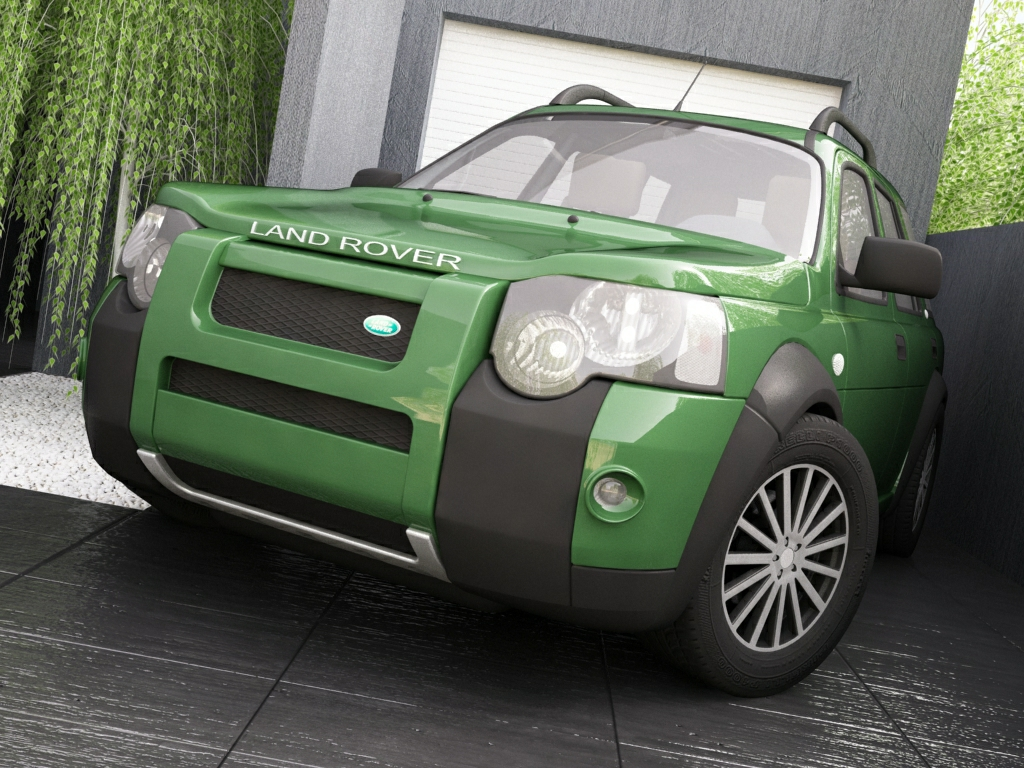 2004 land rover freelander 3d model 3ds max dxf texture obj 120296