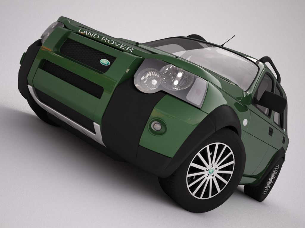 2004 land rover freelander 3d model 3ds max dxf texture obj 120297