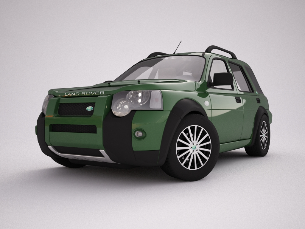 2004 land rover freelander 3d model 3ds max dxf texture obj 120298