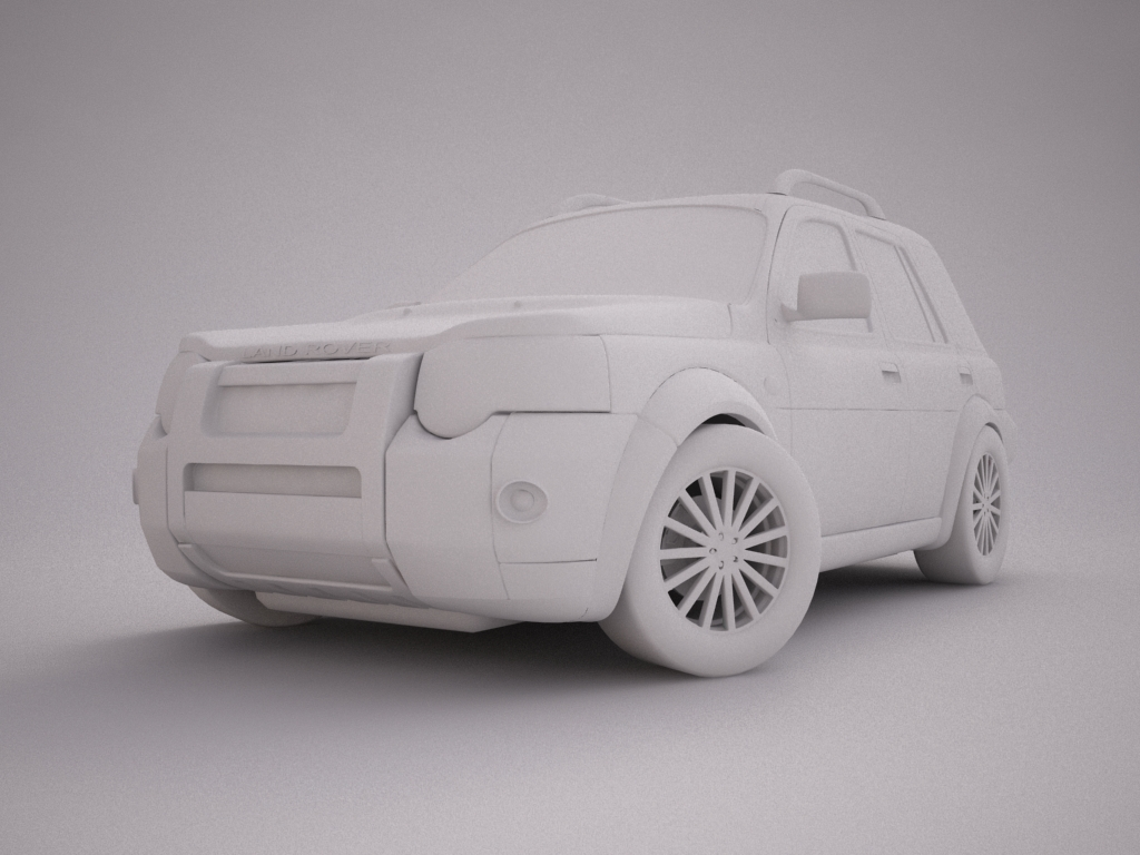 2004 land rover freelander 3d model 3ds max dxf texture obj 120299