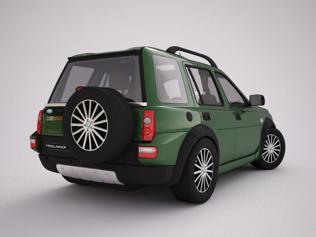 2004 land rover freelander 3d model 3ds max dxf texture obj 120300
