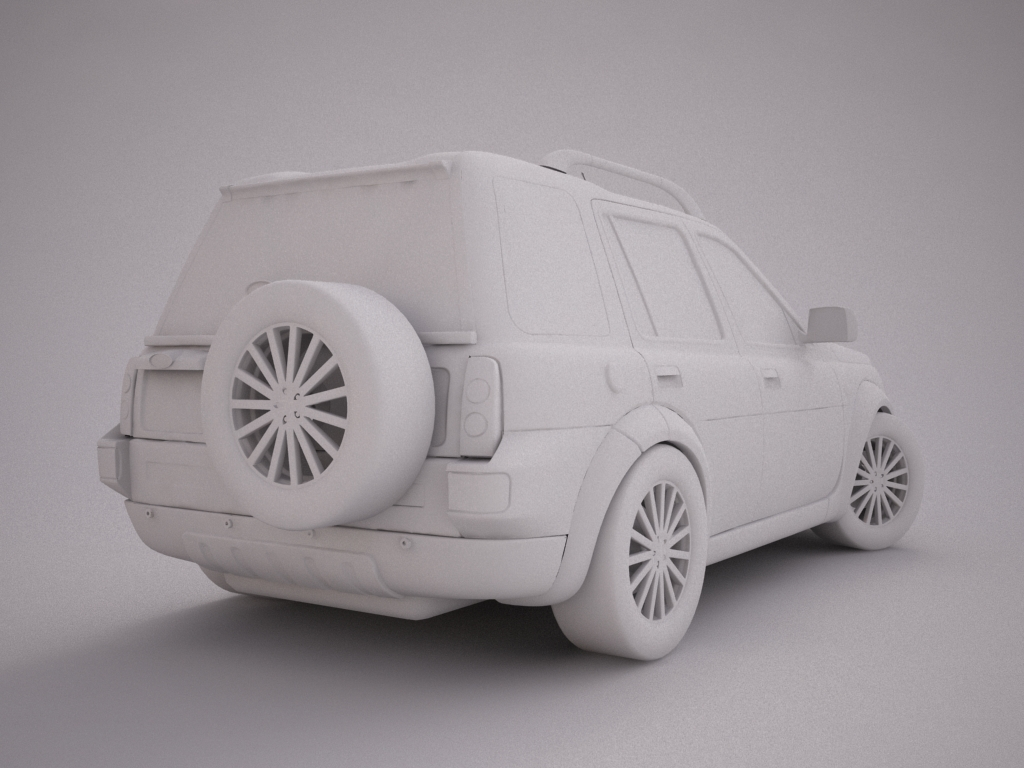2004 land rover freelander 3d model 3ds max dxf texture obj 120301