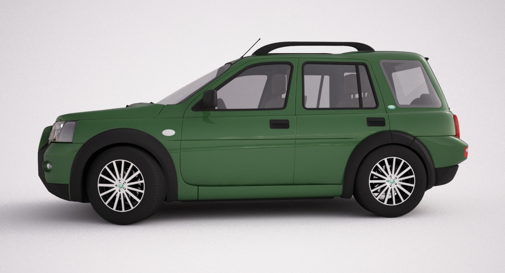 2004 land rover freelander 3d model 3ds max dxf texture obj 120302