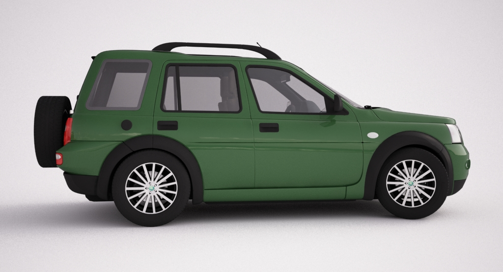 2004 land rover freelander 3d model 3ds max dxf texture obj 120303