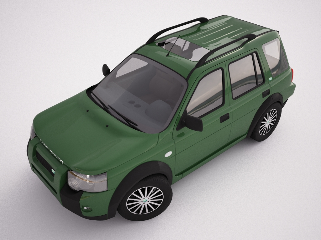 2004 land rover freelander 3d model 3ds max dxf texture obj 120304