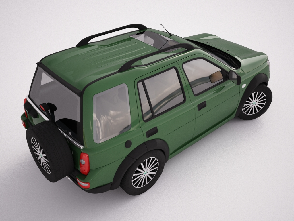 2004 land rover freelander 3d model 3ds max dxf texture obj 120305