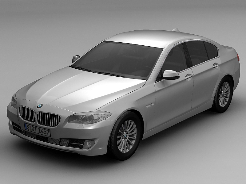 2010 bmw 5 series 3d model 3ds max fbx c4d lwo hrc xsi obj 161686