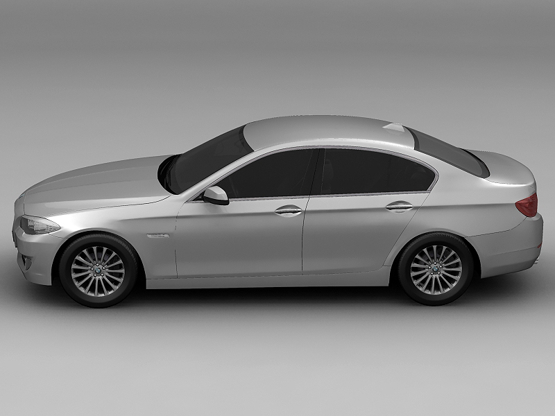 2010 bmw 5 series 3d model 3ds max fbx c4d lwo hrc xsi obj 161687