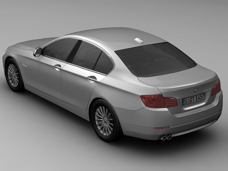 2010 bmw 5 series 3d model 3ds max fbx c4d lwo hrc xsi obj 161688