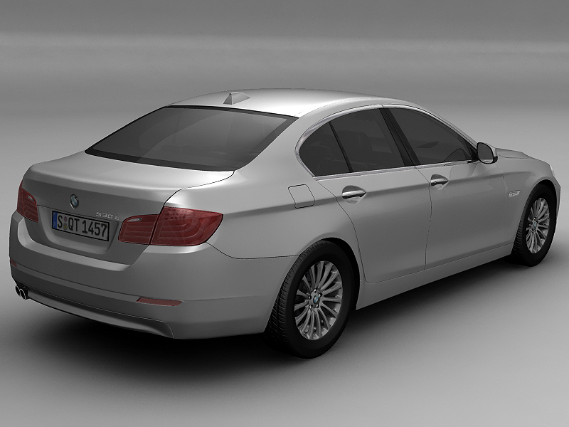 2010 bmw 5 series 3d model 3ds max fbx c4d lwo hrc xsi obj 161690