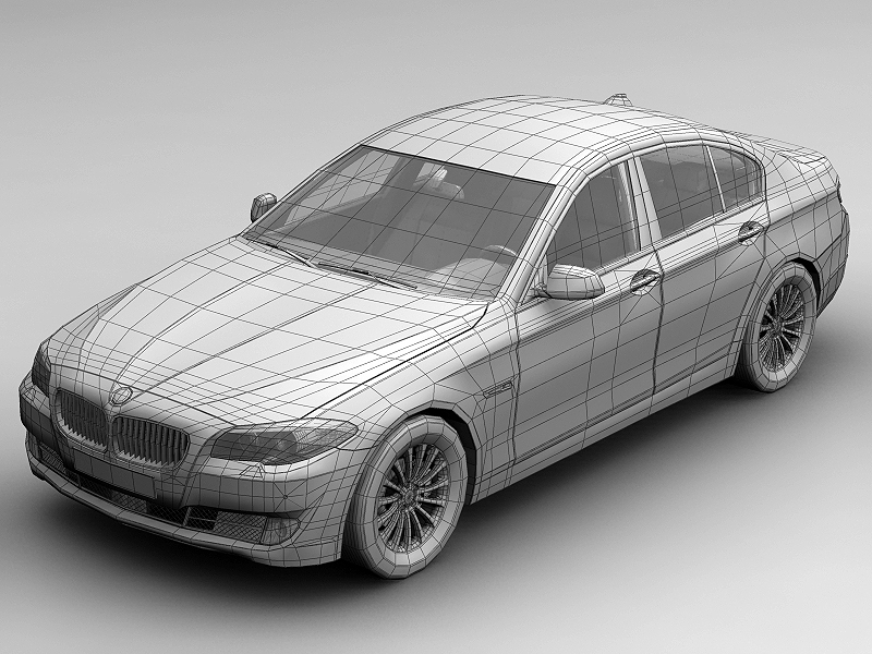 2010 bmw 5 series 3d model 3ds max fbx c4d lwo hrc xsi obj 161694
