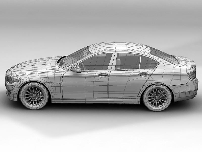 2010 bmw 5 series 3d model 3ds max fbx c4d lwo hrc xsi obj 161695